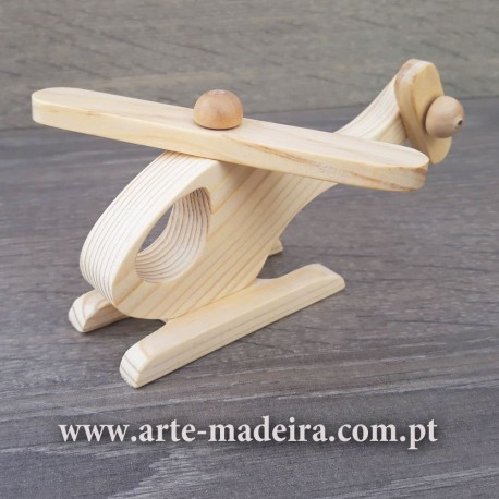 Wooden toy Helicopter