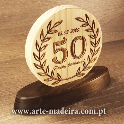 Pine wood birthday plaque