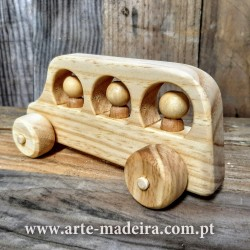 Bus wooden toy