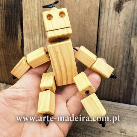 Boneca de madeira Robô