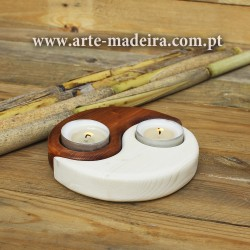 Yin Yang shaped candle holder
