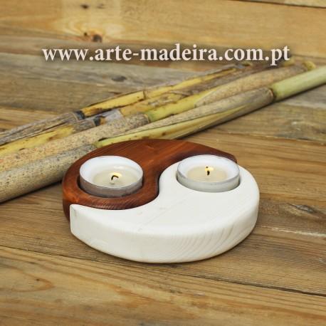 Yin Yang shaped candle holder