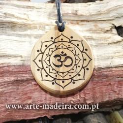 Wooden necklace Mandala