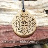 "Wooden necklace ""Mandala"""