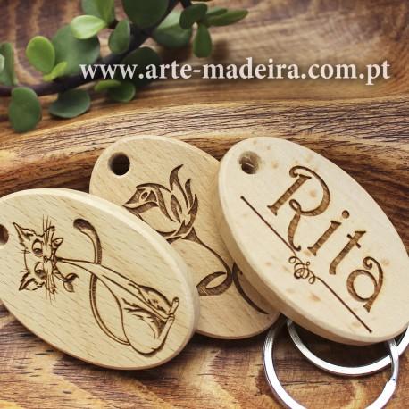 Porta-chaves de madeira