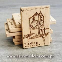 Ímanes personalizados de madeira