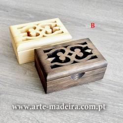 Guarda-joias de madeira