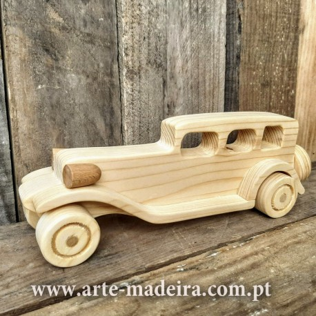 Wooden toy Old car