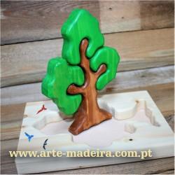 Puzzle de madeira Arvore