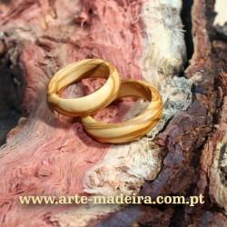 Anel de madeira oliveira